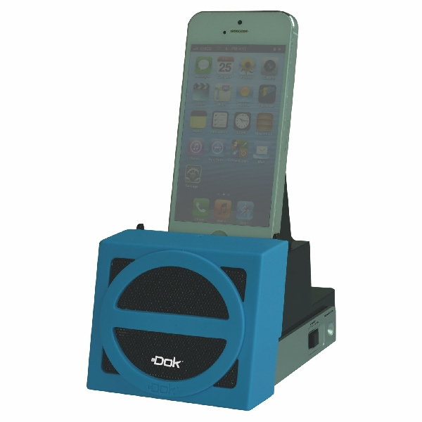 Speaker Cradle with Rechargeable Battery (Blue Face)