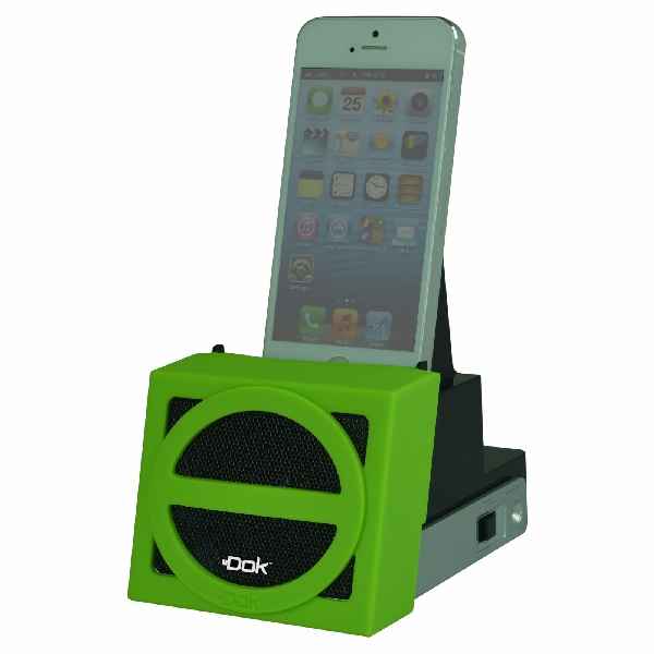 Speaker Cradle with Rechargeable Battery (Green Face)