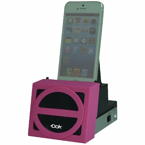 Speaker Cradle with Rechargeable Battery (Pink Face)