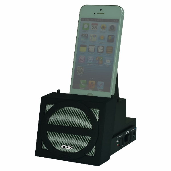 Portable Universal Cradle with Speaker System (Bluetooth), Rechargeable Battery (Black Face)