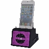 2 Port Smart Phone Charger with Bluetooth Speaker, Speaker Phone, Rechargeable Battery (Purple Face)