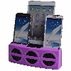 5 Port Smart Phone Charger with Bluetooth Speaker and Speaker Phone (Purple Face)