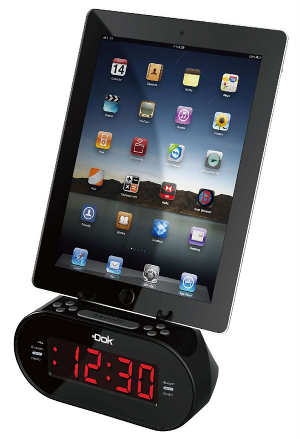 Alarm Clock with Universal Cradle