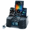 6 Port Smart Phone Charger with Alarm, Clock, FM Radio