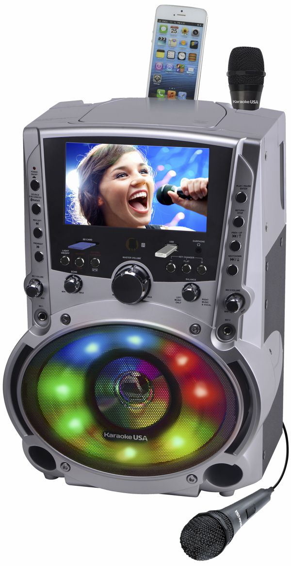 REFURBISHED - DVD/CDG/MP3G Karaoke Machine with 7