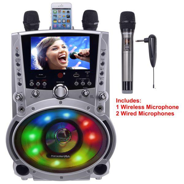 GF858 DVD/CDG/MP3G Karaoke Machine with 7
