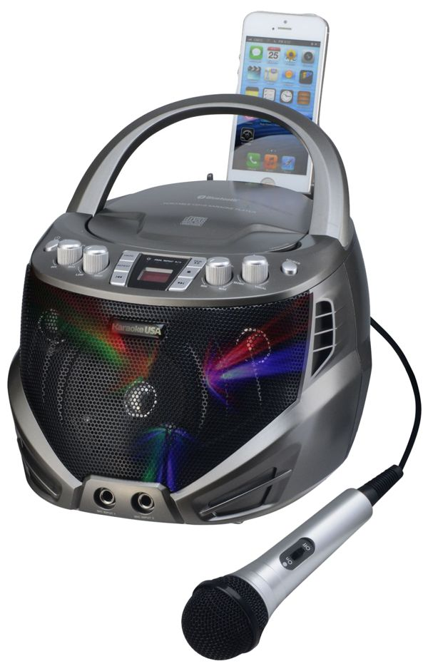 Portable CDG Karaoke Player with Flashing LED Lights