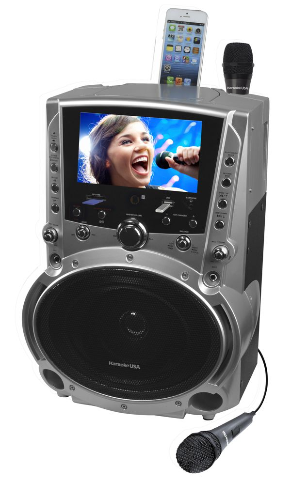 GF757 DVD/CDG/MP3G Karaoke Machine with 7