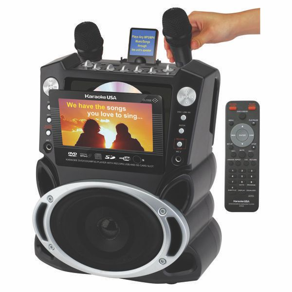 DVD/CDG/MP3G Karaoke, Video, Music Player with 7 inch Color TFT, USB, SD Slot, 300 Songs and Record Function