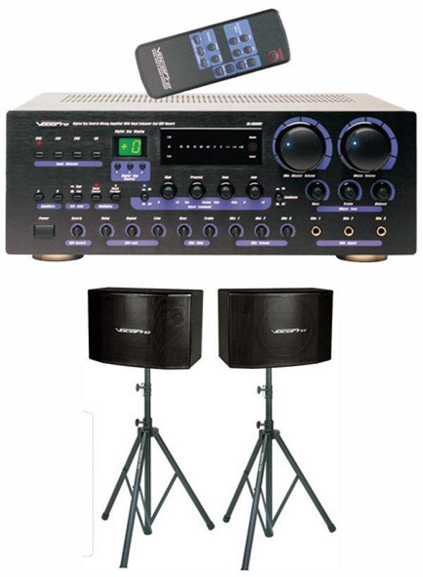360W Digital Key Control Mixing Amplifier with Speaker Package