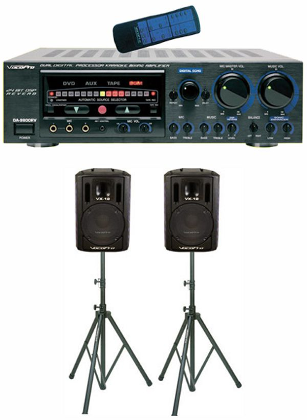 600W Professional Mixing Amplifier with Speaker Package
