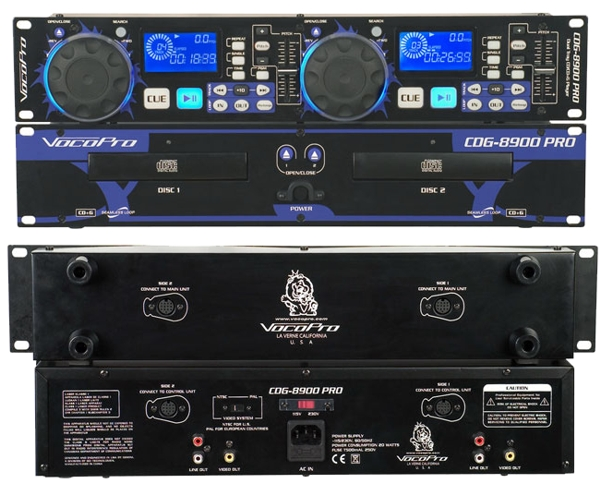 Professional Dual Tray CD/CD+G Player
