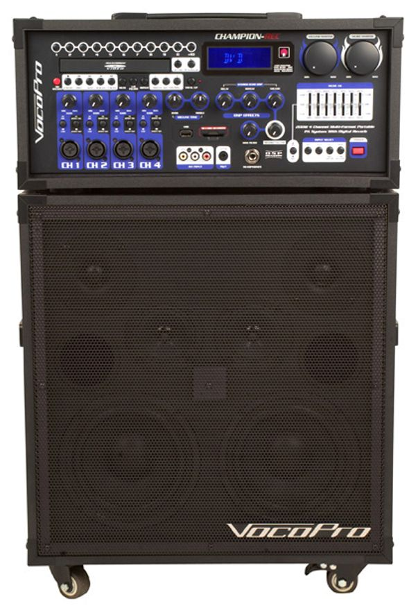 200W 4-Channel Multi-Format Portable P.A. System with Digital Recorder (Basic)