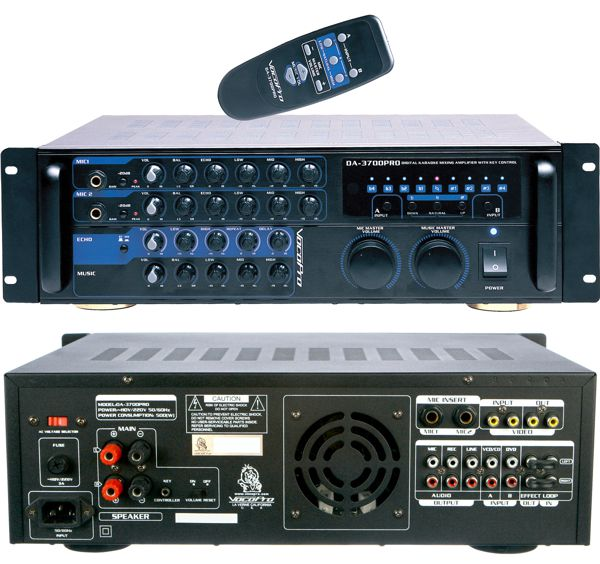 200W Digital Key Control Mixing Amplifier with Bluetooth Reciever
