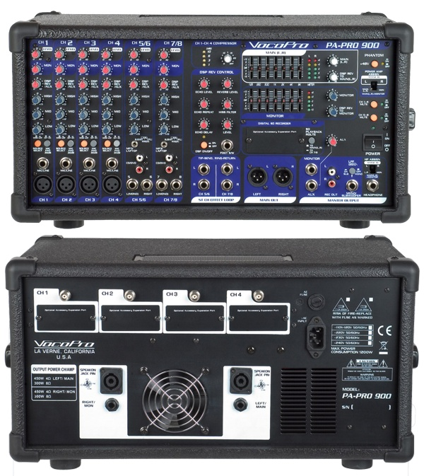 900W Professional PA Mixer