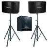 600W Vocal Speaker with 15 inch Subwoofer and Stands