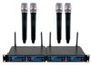 Four Channel UHF/DSP Hybrid Handheld Wireless Microphone Package