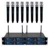 Eight Channel UHF/DSP Hybrid Handheld Wireless Microphone Package