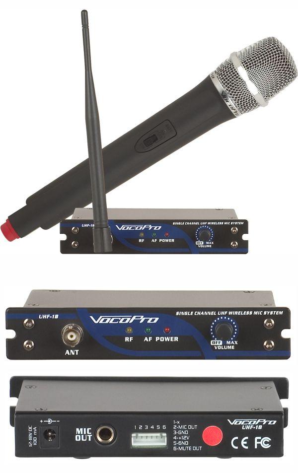 Single Channel UHF Wireless Mic System (Freq M)