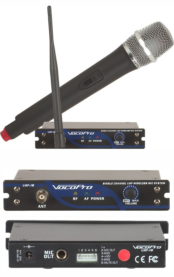 Single Channel UHF Wireless Mic System (Freq O)