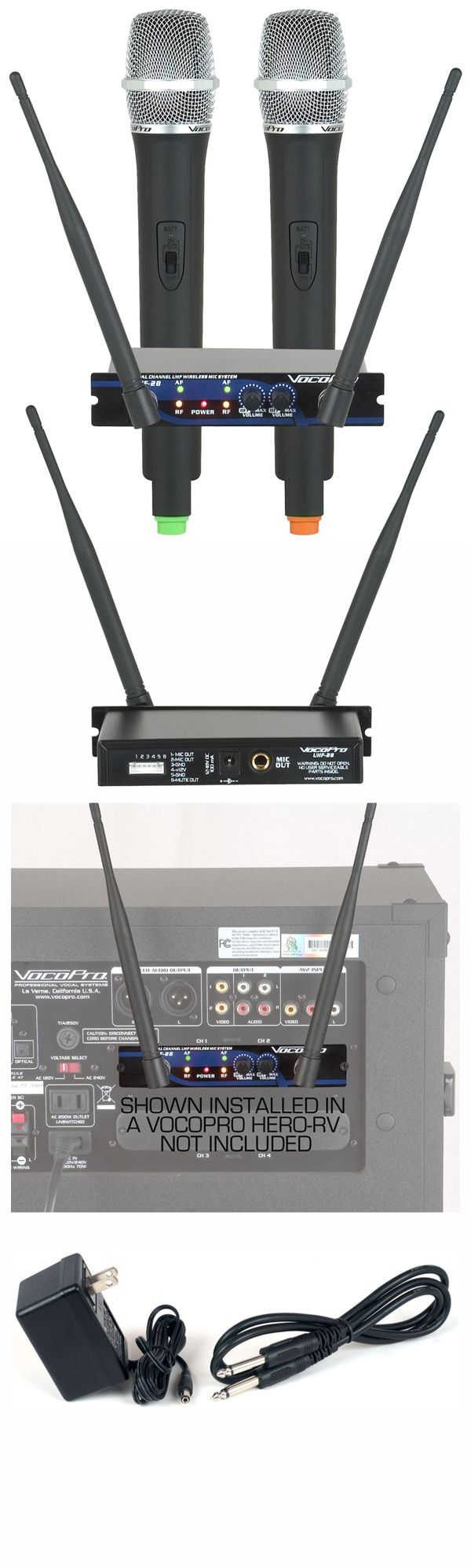 Dual Channel UHF Wireless Mic System (Freq: S, T)
