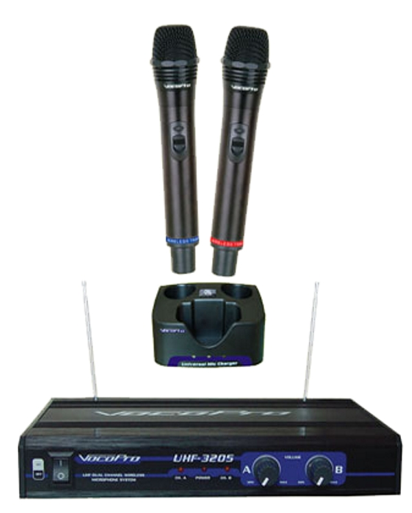 UHF-Dual Channel Wireless Microphone System (Freq: M, N)