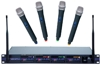 Professional 4-Channel UHF Wireless Microphone System