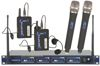 Professional 4 Channel UHF Wireless Microphone System Frequency: A, B, C, D