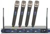 Professional 4 Channel UHF Wireless Microphone System with XLR Cables and Mic Stands (Freq: 9A, 9B, 9C, 9D)