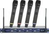 Professional Rechargeable 4-Channel UHF Wireless Microphone System (Freq: 9A, 9B, 9C, 9D)