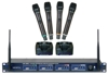 Professional Rechargeable 4-Channel UHF Wireless Microphone System