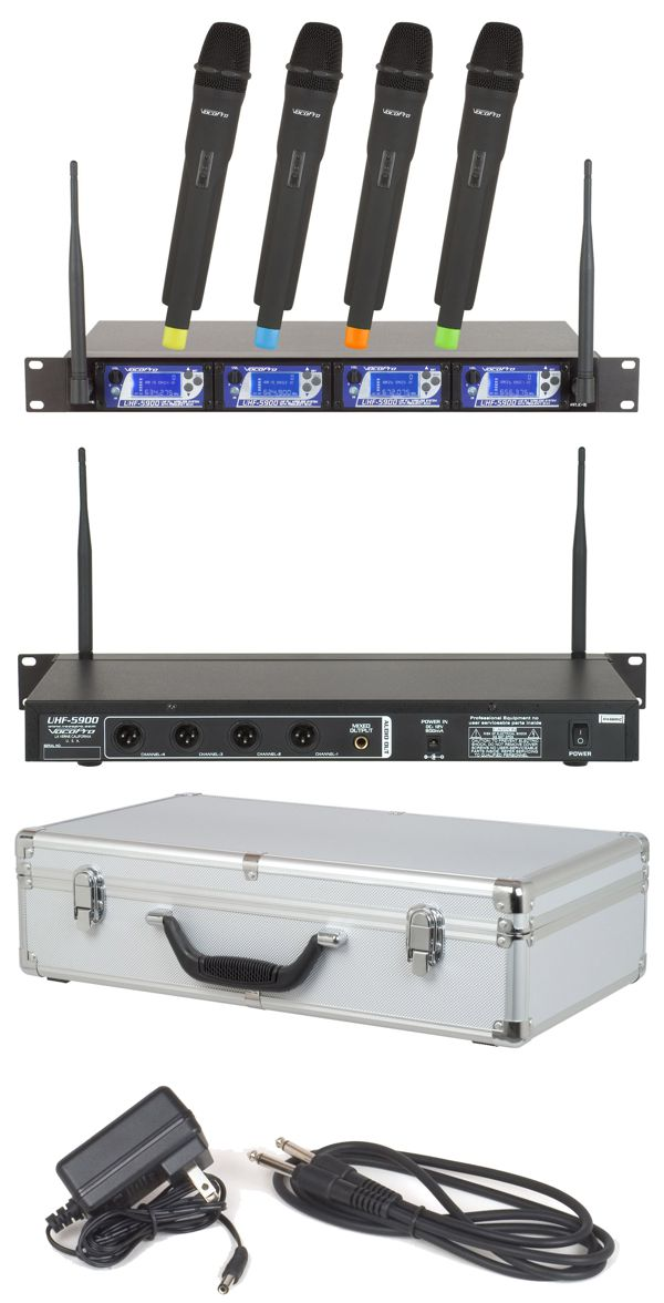 UHF PLL Wireless Mic System with Frequency Scan (Switchable Frequencies @ 900 Mhz)