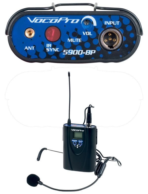 Optional Headset Bodypack for the UHF-5900 Wireless Microphone Systems