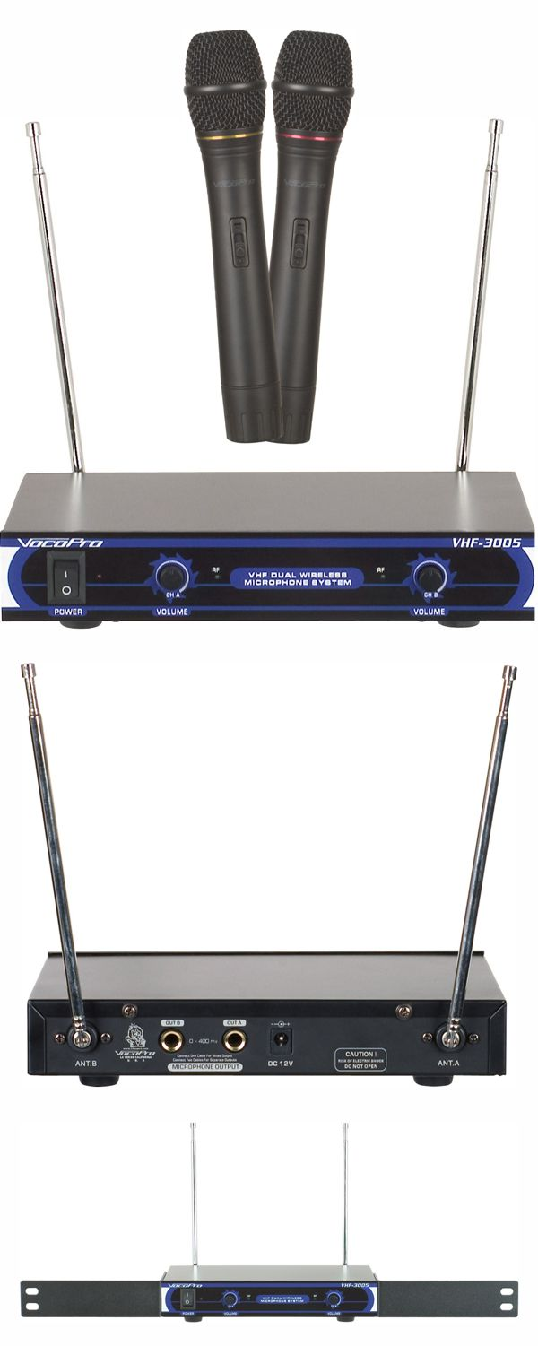 Dual Channel VHF Wireless Microphone System (Freq: A, B)