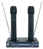 2 Channnel VHF Rechargeable Wireless Microphone System