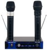 Dual Channel VHF Rechargeable Wireless Microphone System (Freq: C, D)
