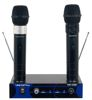 Dual Channel VHF Rechargeable Wireless Microphone System