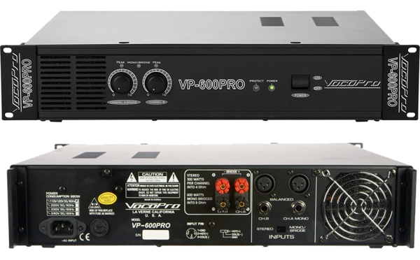 2 Space 600W Professional Power Amplifier