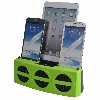3 Port Smart Phone Charger with Speaker (Green Face)
