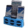 5 Port Smart Phone Charger with Bluetooth Speaker and Speaker Phone (Blue Face)