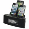 3 Port Smart Phone Charger with Speaker and Alarm Clock